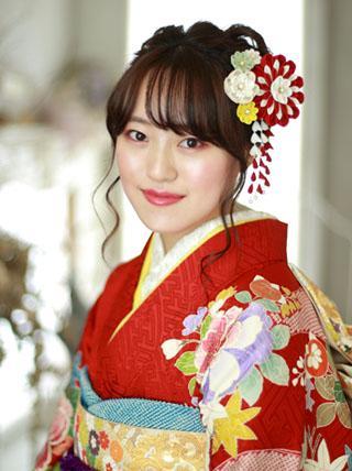 大きなお花のつまみ細工 【和モダン】 成人式 卒業式 結婚式 七五三 髪飾り