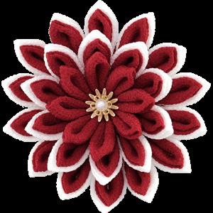 色で選ぶ赤色の髪飾り