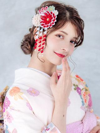 花いぶき 成人式 卒業式 結婚式 七五三 髪飾り
