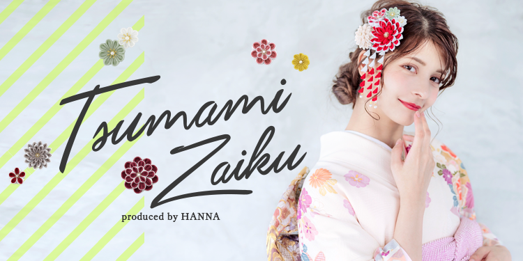 つまみ細工の髪飾り Product by HANNA